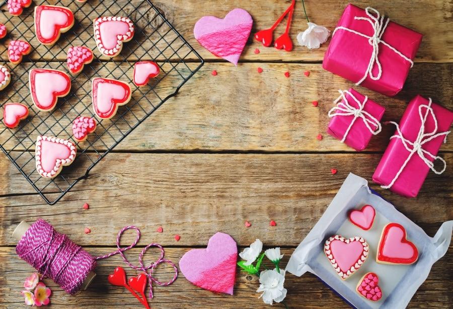 Laeacco деревянная доска подарки любовь-сердце Форма десерт День Святого Валентина фотографии фон Индивидуальные фон для фотостудии