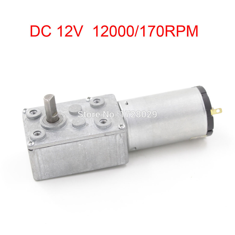 70JSX69-395 DC12V 12000/170RPM Reducing Worm Gear Box Motor 12V image