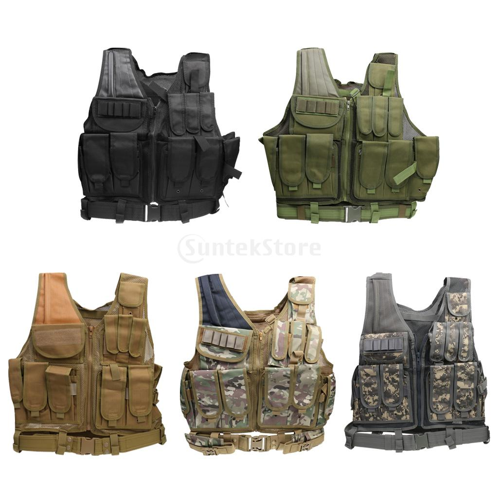 High Quality Camouflage Hunting Vest MOLLE SWAT Military Tactical Vest Wargame Body Protector Outdoor Jungle Equipment high quality tactical outdoor view wind duck for hunting target cl38 0006
