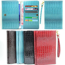 Fashion Universal 8 inch Crocodile Leather Wallet Case For Samsung Galaxy Tab A 8.0 T350 T351 SM-T355 tablet cover M4C31D
