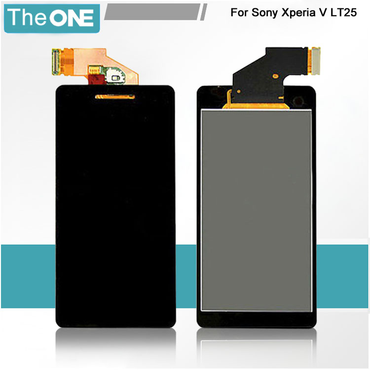Подробнее о For Sony Xperia V LT25i LT25 Full Touch Screen Digitizer Glass Sensor + LCD Display Panel Assembly Replacement + Tracking Number for sony xperia arc s lt18i lt18 x12 lcd display screen monitor digitizer touch panel screen glass assembly replacement