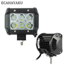 ECAHAYAKU 40 Pcs 4 18W 6000K 1260lm LED Work Light Bar for Motorcycle Tractor Boat Off Road 4WD 4x4 Truck SUV ATV Spot 12v 24v