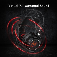 Somic G941 USB 7.1 Virtual Surround Sound Gaming Headset Headphones with Microphone Stereo Bass Vibration for PC PS4 Gamer