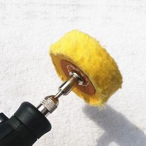 Image 2 - T Style Polish Buffing Wheel Grinding Head Cloth Dremel Wheel Grinder Brush For Rotary Abrasive Tools Dremel Accessories Shank