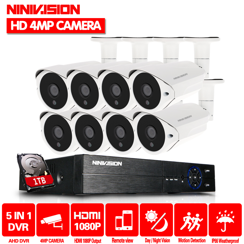 цена 8 Channel CCTV system AHD 4MP DVR with 8PCS Super HD 4MP Security camera System 4MP 36 LEDs camera video surveillance kit