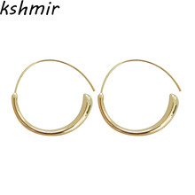 Fashion simple geometric winds round earrings Ms earring delicate Chic dangler wholesale
