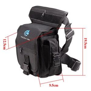 Image 2 - Multi Purpose Fishing Bag 19.5*12.5*9.5cm Waterproof Outdoor Leg Bag Canvas Portable Multifunction Fishing Tackle Bag Backpack