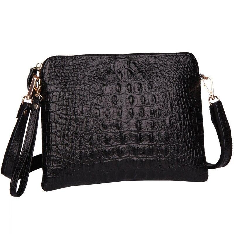 las mujeres bolsos de cuero de cocodrilo patrn de moda femenina bandolera bolso crossbody mensajero de