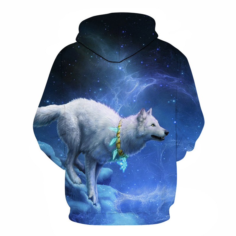Wolf Printed Hoodies Men 3D Hoodies Brand Sweatshirts Boy Jackets Quality Pullover Fashion Tracksuits Animal Street wear Out Coat 43