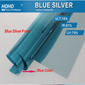 bule silver window film commercial window film solar tint film for home decal 1.52*5m 5ft*16ft