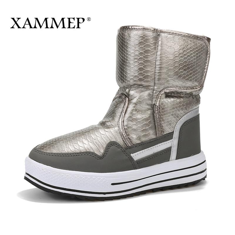 XAMMEP Frauen Winter Schuhe Plus Große Größe Marke Frauen Schuhe - Damenschuhe