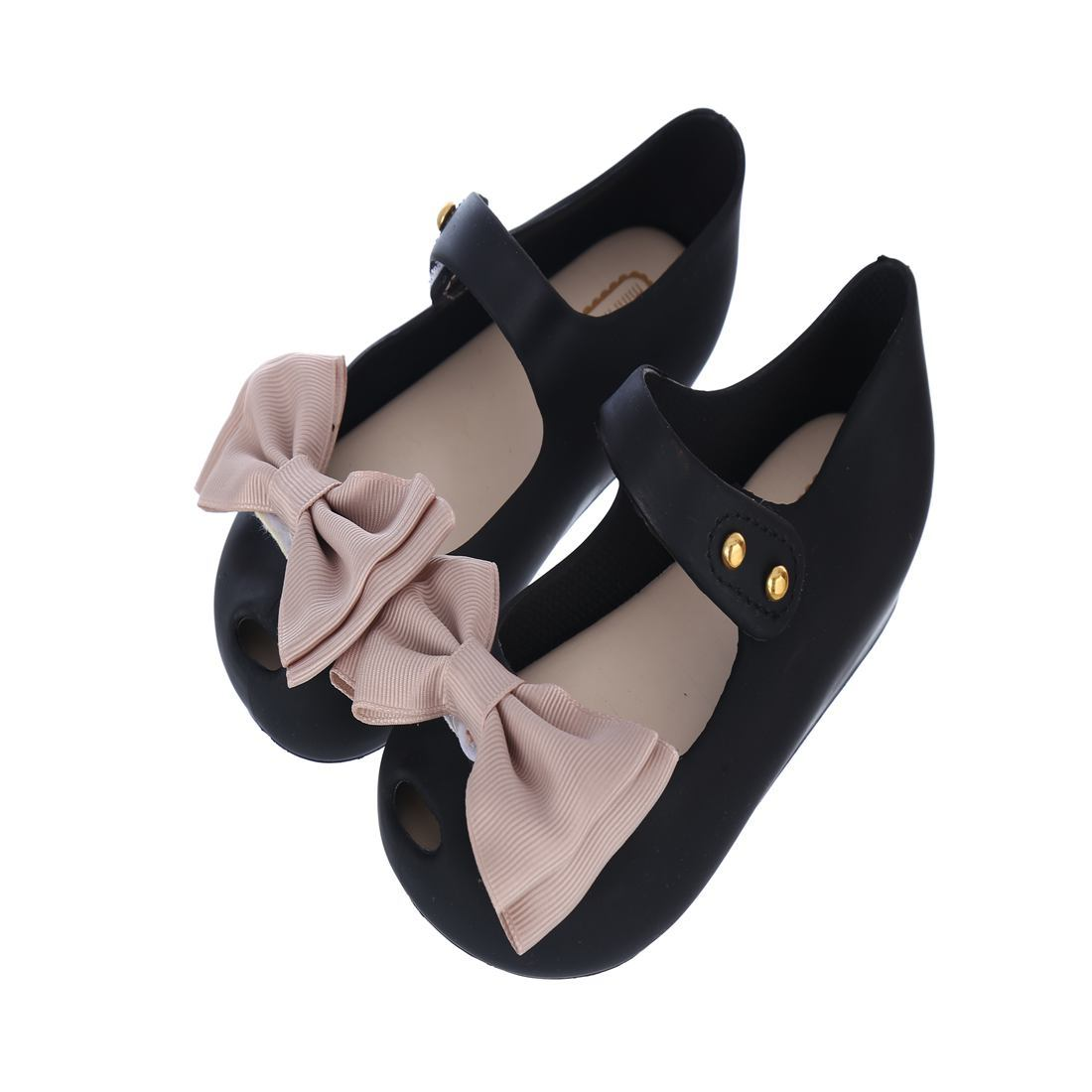 Summer 2018 Mini Melissa Girls Bigger Size Shoes Kids Rain Shoes Color Bow Rubber Cute Sandal Buckle Slipper Fruit Jelly