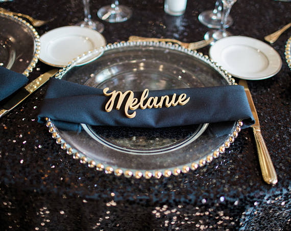 Personalized Wood Place Cards, Wedding Gift, Guest Names, Place Settings, Custom Made Wedding Signs, Laser Cut Signs