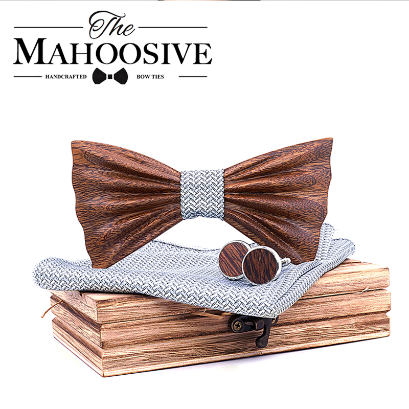 Handmade 3D Wooden Bow Ties For Men Quality Men's Wood Bowtie 3D Handmade Butterfly Wood Bow Tie Gravata Silm