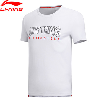 Li-Ning Men The Trend T-Shirt Breathable 64% Cotton 36% Polyester Regular Fit LiNing Sports Tee Tops AHSN191 MTS2800 Top