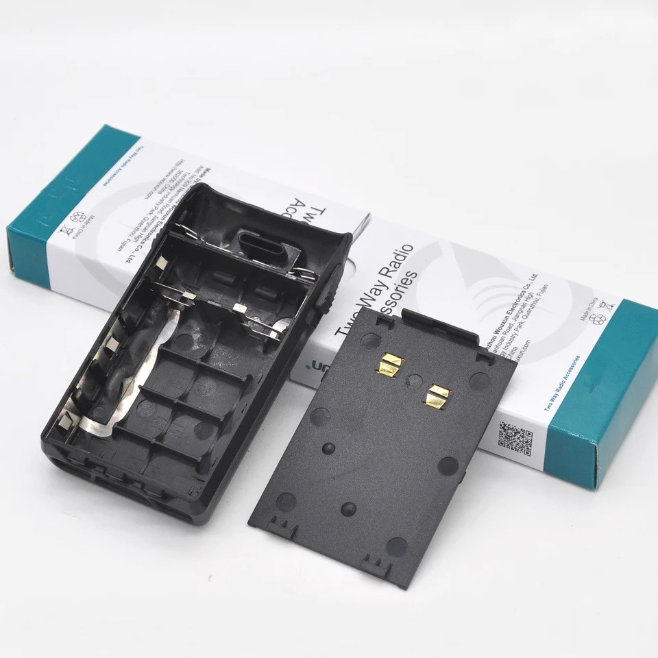 Original 5XAA Battery Box Case With Belt Clip For Wouxun KG-UVD1P KG-UV6D KG-699E KG-678 KG-679 KG-689 Etc Walkie Talkie