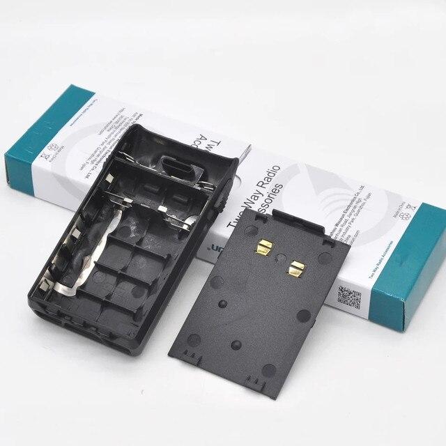 Original 5XAA battery box case with belt clip for Wouxun KG UVD1P KG UV6D KG 699E KG 678 KG 679 KG 689 etc walkie talkie