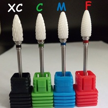 High quality 1PCS ceramic flame nail drill bits for electric nail manicure pedicure cutter machine tools,mix Grit