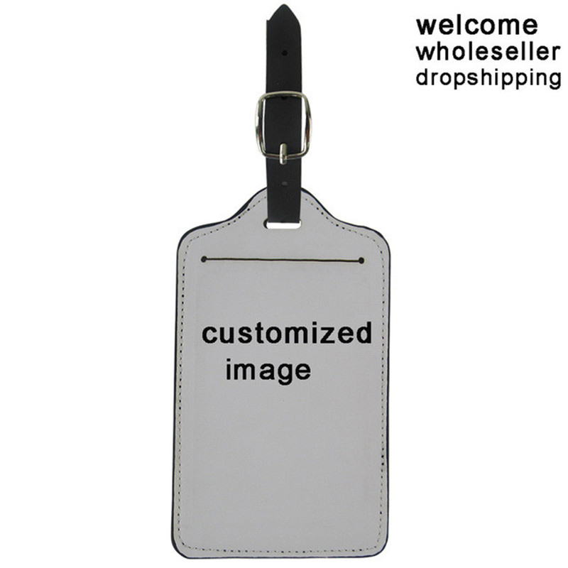 Custom Made Suitcase Luggage Tags Image Logo Pattern Name Address Label ID Holder Travel Accessories Birthday Gifts
