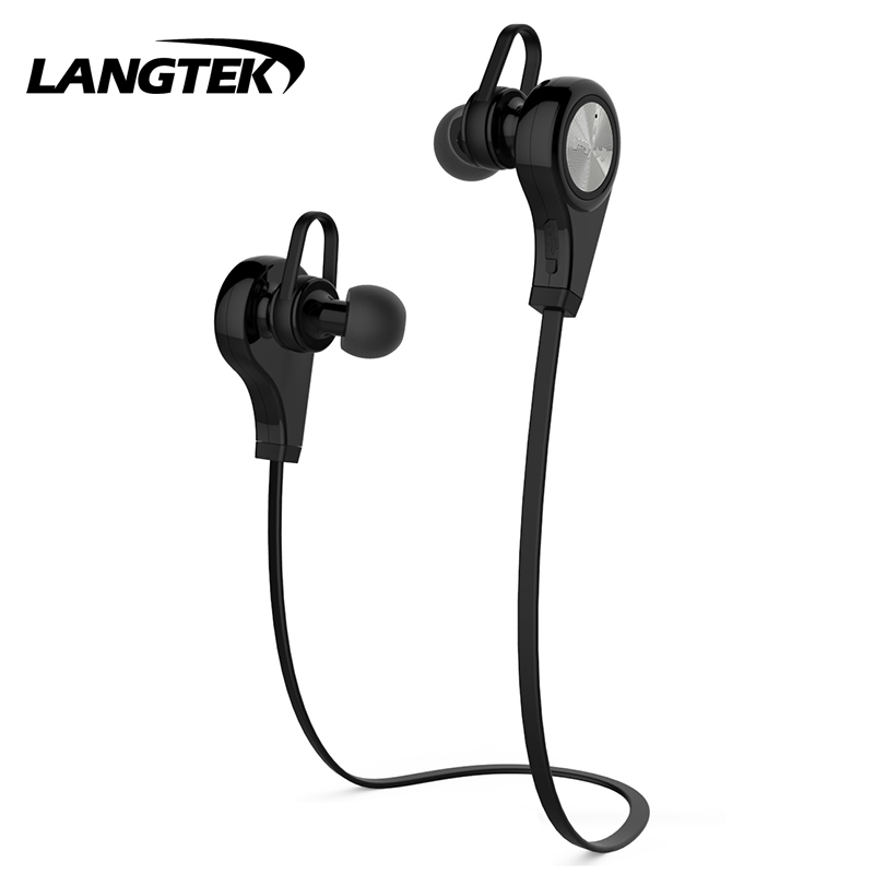 LANGTEK Bluetooth Earphone Headphone Mikrofon stereo nirkabel - Audio dan video portabel