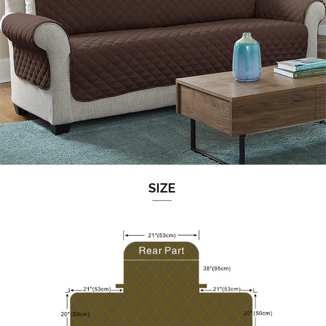 Online Shop Waterproof Quilted Sofa Couch Covers Cloak Furniture