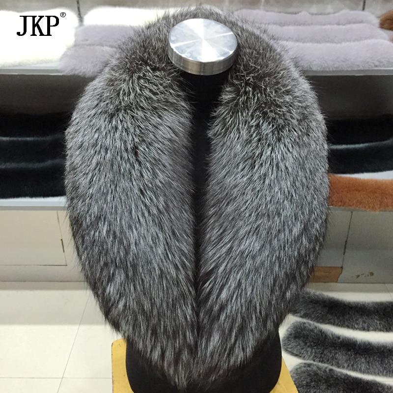 2018 new hot hiver de mode femmes argent réel fourrure de renard col de fourrure écharpe cou chaud silver fox col de fourrure atmosphérique marée