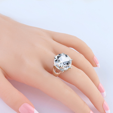 Fashion Jewelry Retro Rhodium Plate Black/Crystal Rhinestone Leaf Ring For Women Wedding Vintage Punk Ring Size 7-9 High quality цена