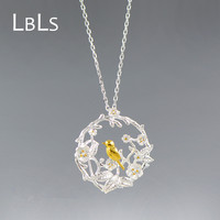 LBLS Handmade Genuine Silver Necklace 925 Women Pendants Necklaces Bird Branches Women S Jewelry Silver Necklace
