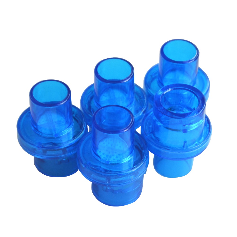 100Pcs/Pack CPR Training Mask Valve With One-Way Valve w/Filter First Aid Rescue Practice Device Color Blue Dia 22mm 100Pcs/Pack CPR Training Mask Valve With One-Way Valve w/Filter First Aid Rescue Practice Device Color Blue Dia 22mm