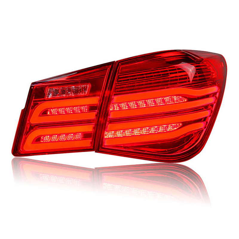 Ownsun High Quality LED DRLs+Brake Lights+Reversing Lights+Turn Singnal Car Rear Taillights Tail Lamps For Chevrolet Cruze high quality new generation led car rear taillights tail lamps for jeep wrangler jk play and plug
