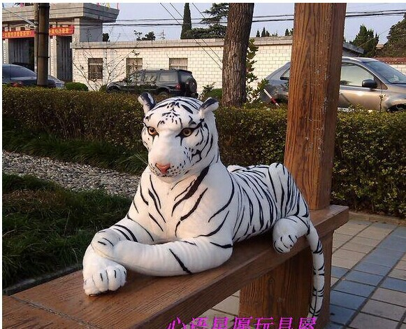 lovely plush simulaiton tiger toy big white tiger doll new creative lying tiger doll gift about 90cm 2401 фанкойл mdv mdkt3h 1600g100