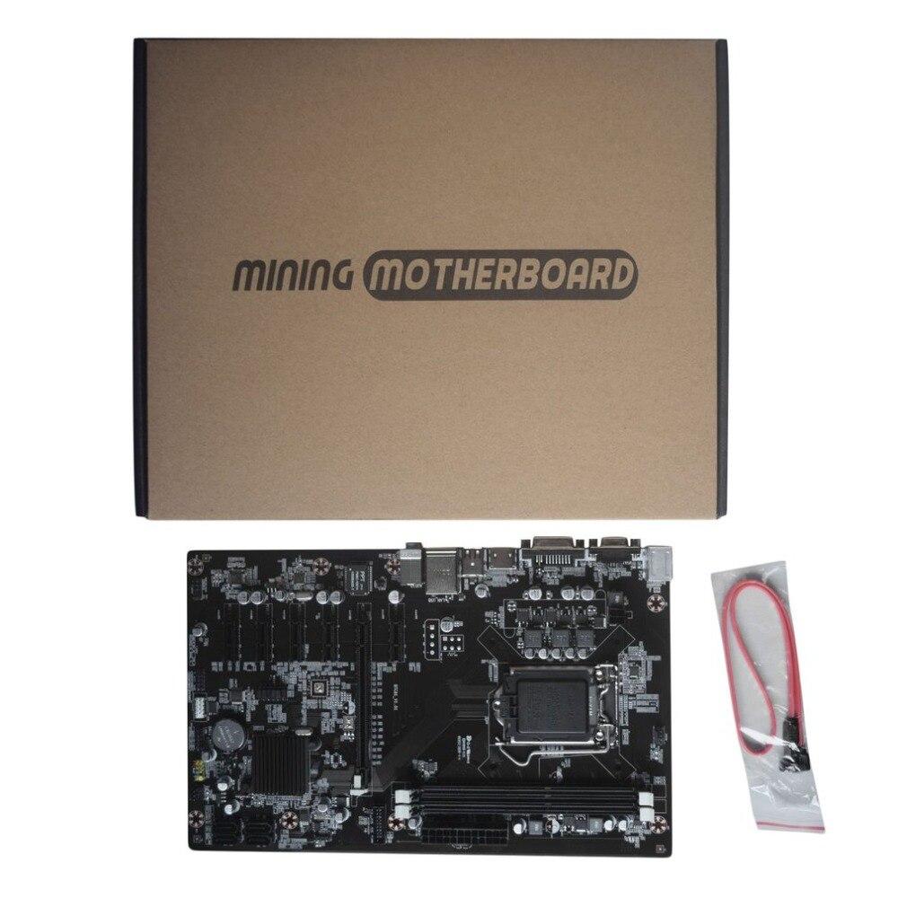 H81 BTC Mining Board Mining Motherboard TB250-BTC CPU LGA 1150 DDR3 1066/ 1333/ 1600MHz Memory PCI Express For BTC Miner Machine все цены