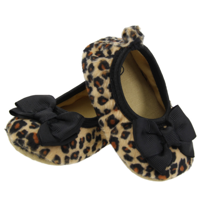 Shoes Prewalker Bowknot Angel-Fashion Leopard Toddlers Butterfly Baby-Girl Princess Tiger-Print