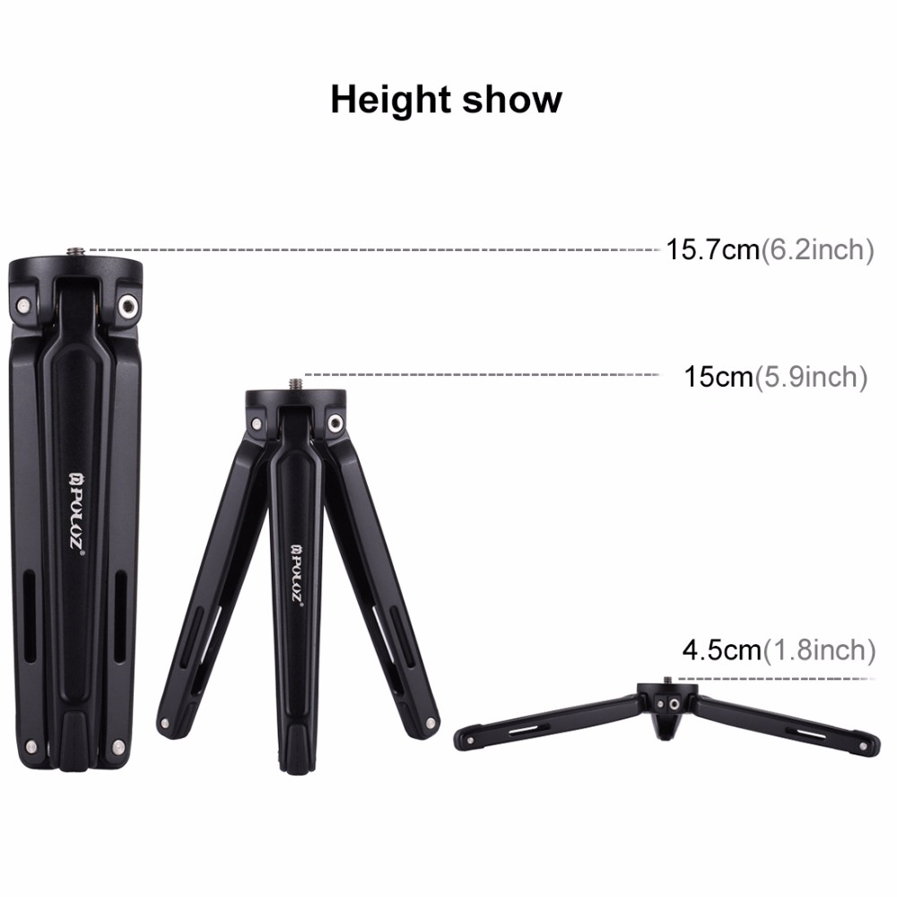 Lightweight Mini Tripod with Aluminun Alloy Protective Housing Cage for Sony RX0 LED Fill Light Microphone for Recording in Tripods from Consumer Electronics