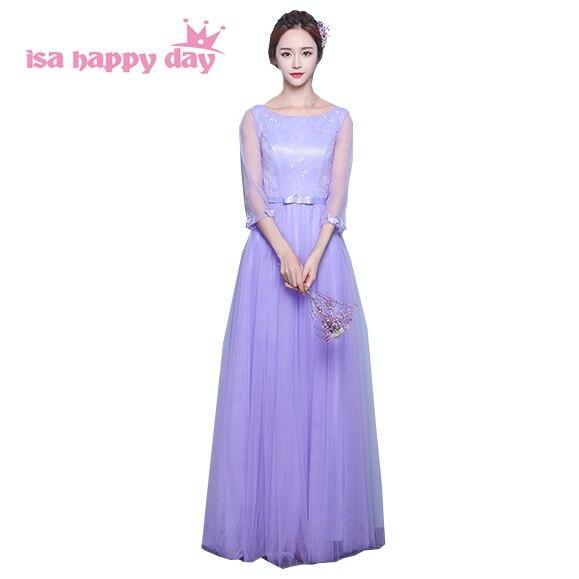 women bridemaid teen girls party dress married lavender long ...