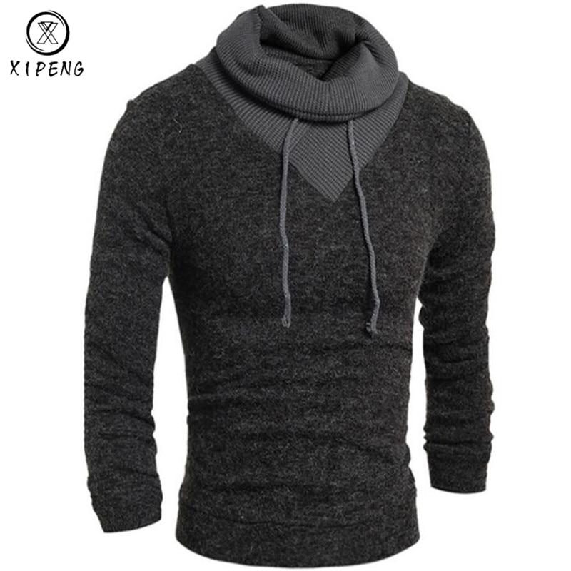 2018 Spring Autumn Turtleneck Sweater Men