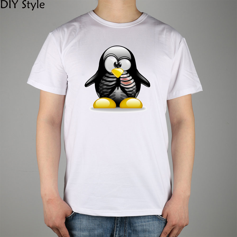Penguin Book Cover T Shirts : Ξlinux skull penguin t shirt ᑐ top lycra cotton men