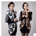 No outono e inverno de 2015 novas mulheres de usar lã cashmere malha mohair capa cardigan casaco solta grandes estaleiros xale