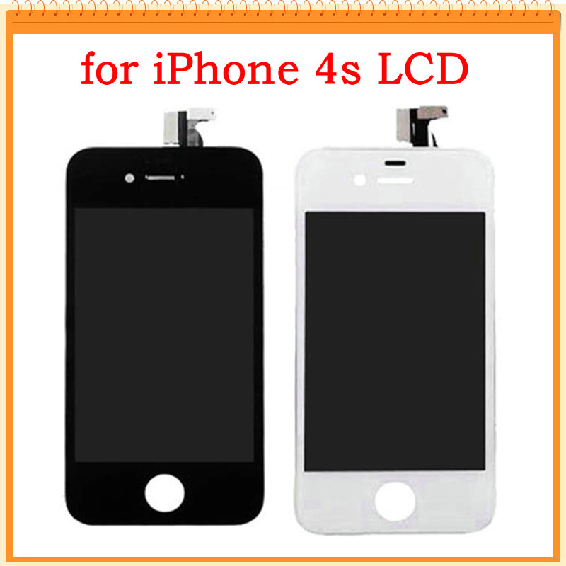 For iPhone 4S LCD Screen Display with Touch Screen Digitizer Assembly with speaker mesh attached Black