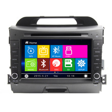 Free Shipping 2011 2012 2013 2014 2015 Kia Sportage R 2 din Car DVD Player radio GPS RDS Bluetooth IPOD+Russia Menu