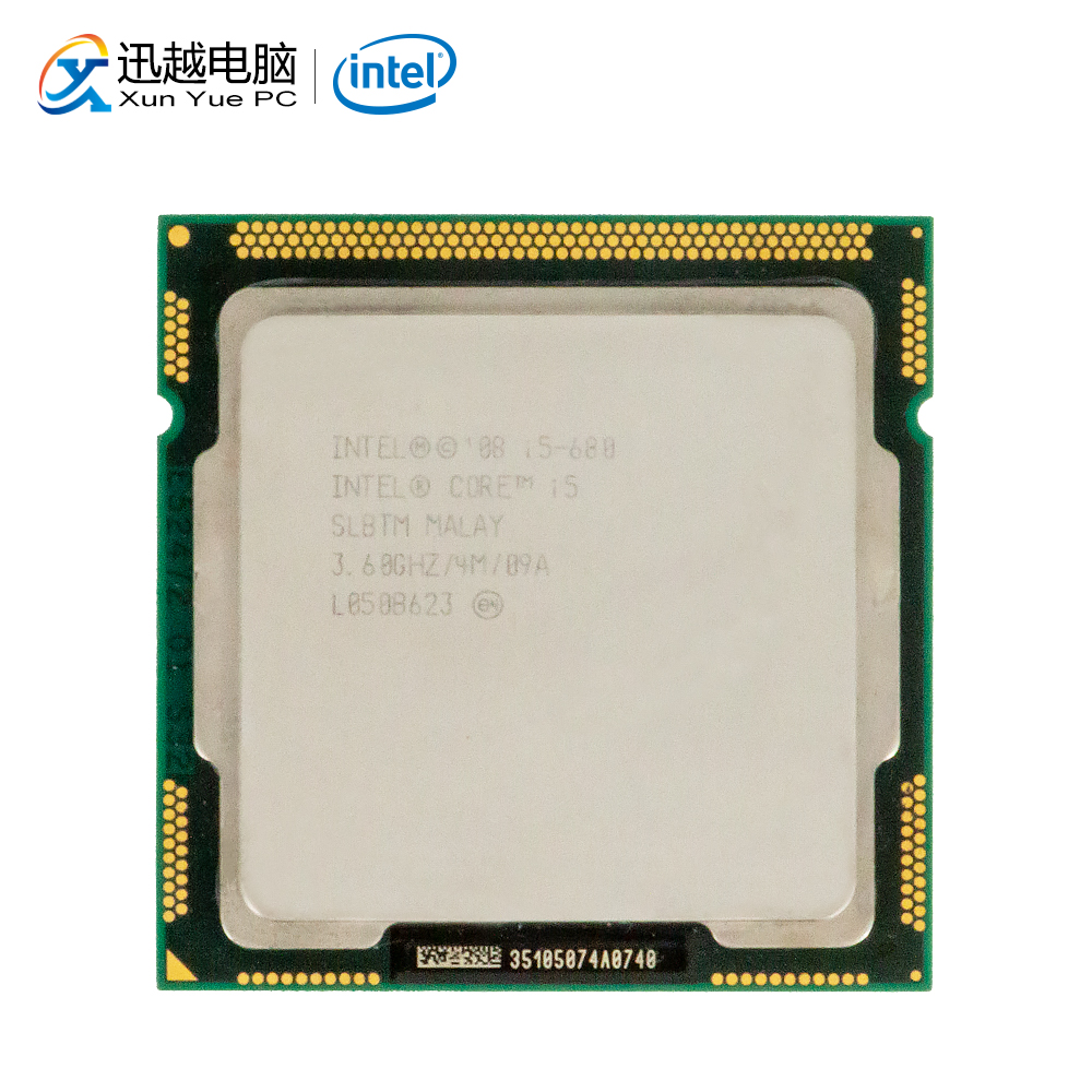 Intel Core I5 680 Desktop Processor I5-680 Dual-Core 3.6GHz 4MB L3 Cache LGA 1156 Used CPU