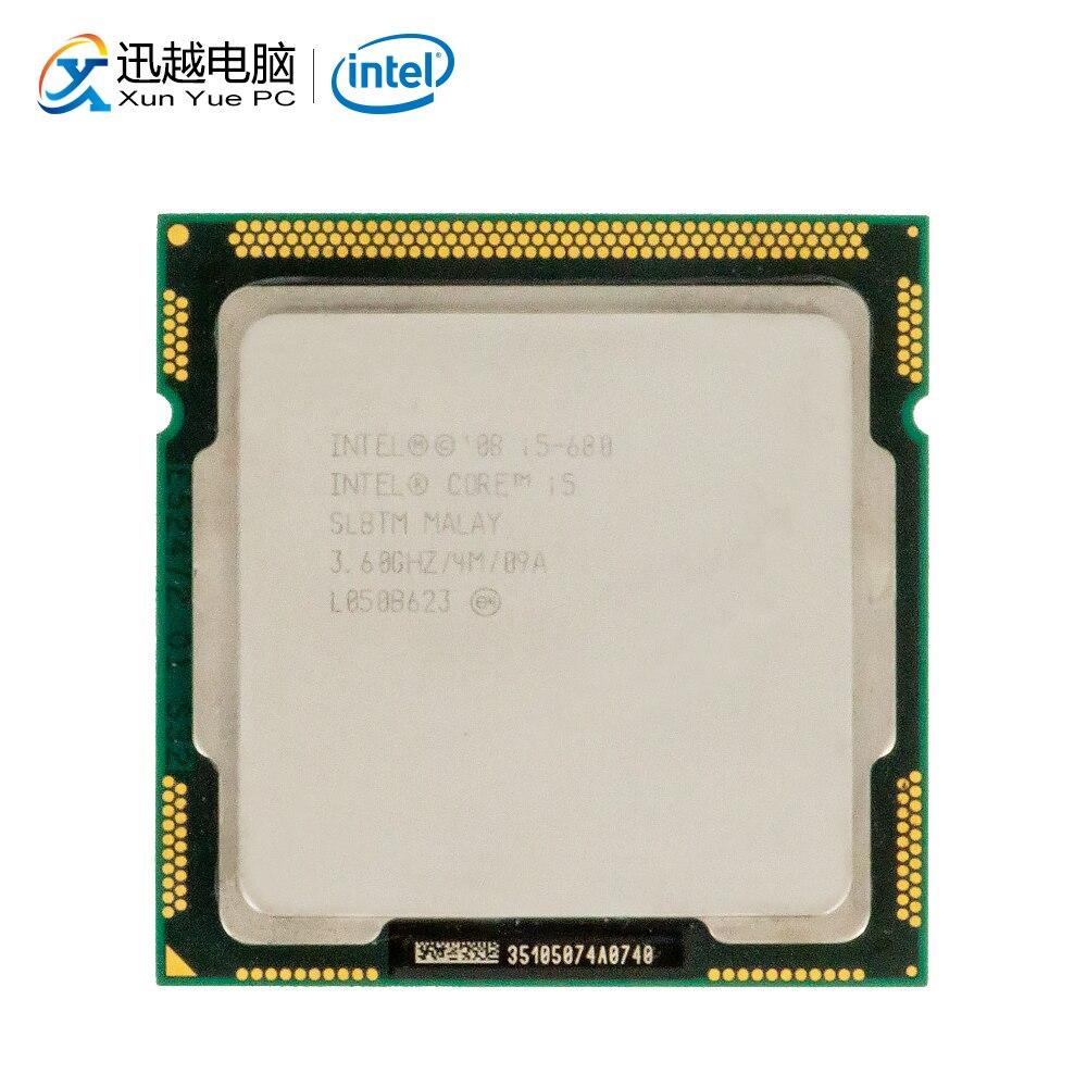 Processeur d'ordinateur de bureau Intel Core i5 680 i5-680 double coeur 3.6 GHz 4 mo L3 Cache LGA 1156 CPU utilisé