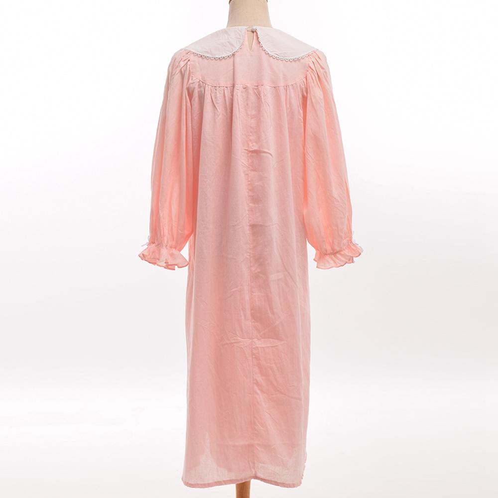 9931453a3 Período vitoriano Romântico Manga Comprida Peter Pan Collar Vestido  Camisola Homewear em Nightgowns   Sleepshirts de Roupa interior    Sleepwears no ...