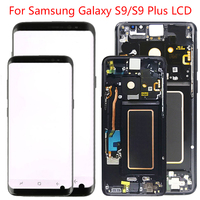 Original S9 Plus LCD For Samsung S9 LCD Display Touch Screen Frame Assembly For Galaxy S9 SM G960F G965F LCD Screen Black dot
