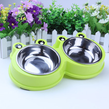 Dog Bowls Stainless Steel Bowl with No Spill Non-Skid Silicone Mat 53 oz Feeder Pet for Dogs Cats and Pets