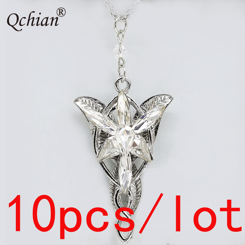 10pcs/lot Inlaid Crystal Angel Wings Cross Pendant Necklace Princess Jewelry very beautiful Gift for Girls