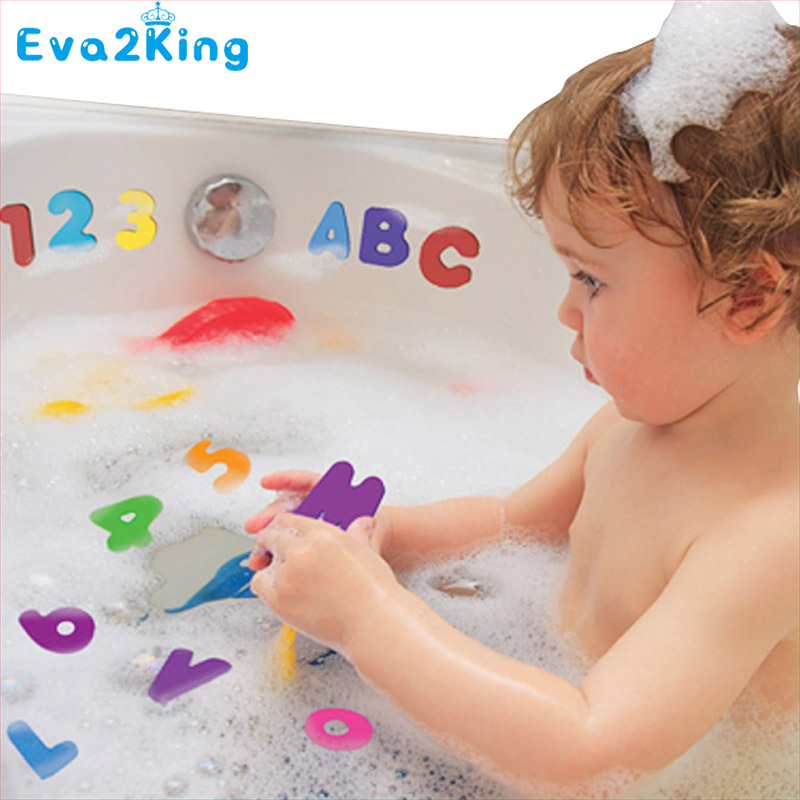 Eva2king Alphabet Bath Toy Kids & Children & Baby Bath Toys water toys Classic toys Educational 26 Letters + 10 Numbers 99pcs plastic scrabble tiles english letters numbers black white font toy for kids children puzzles model educational toys