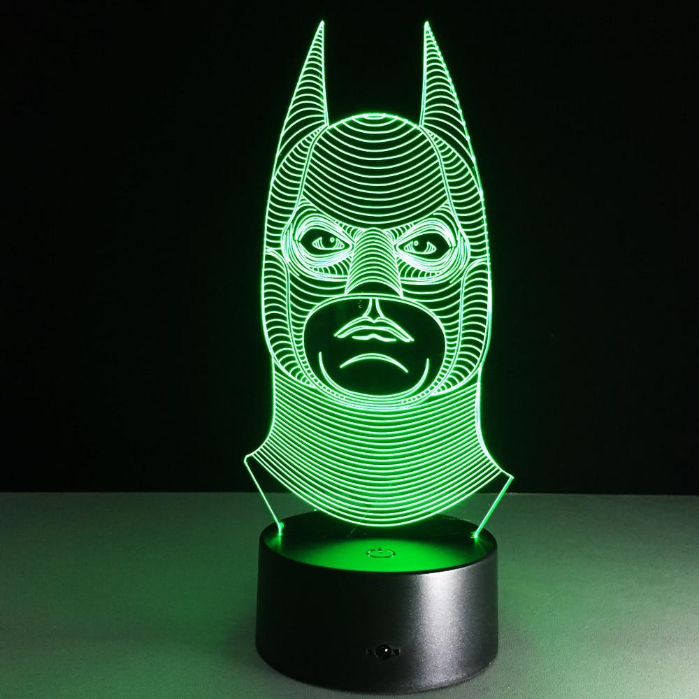 Novelty Batman Joker Smile Double Face 3D Illusion Bulb
