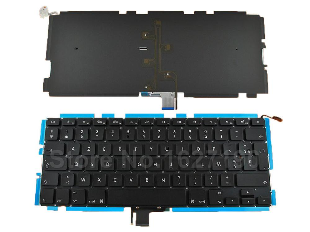 FR French Keyboard Laptop for Apple Macbook Pro Unibody A1278 MB467 Models 13 3 With Backlit