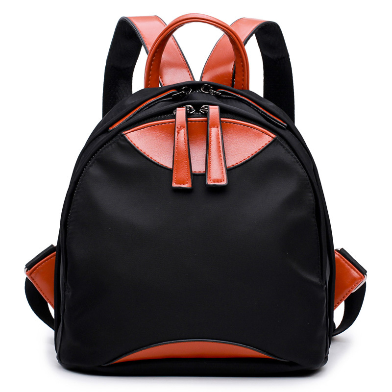 Womens Bag 2018 New Style female backpack, College Wind Bag, Korean Fashionable Nylon Patchwork Casual Knapsack